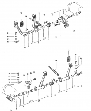 Pedals, levers, and controls